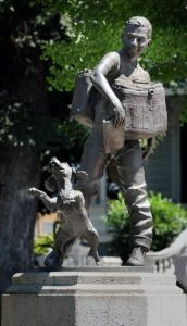 Memorial to the Newsboy, Modesto, California (ModBee.com, 2019)